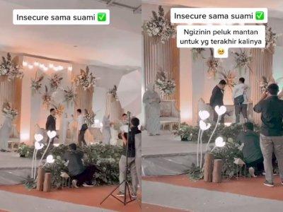 Berbesar Hati, Pria Ini Izinkan Istrinya Peluk Mantan di Acara Pernikahan