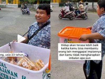 Kisah Haru Tunanetra Merantau Sendirian ke Jogja, Jualan Cemilan di Pinggir Jalan
