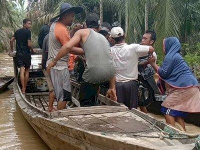 Banjir Melanda Sejumlah Gampong di Aceh Timur, 300 Warga Terpaksa Mengungsi