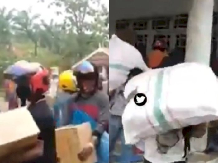 "Video Bantuan Logistik Dijarah Masyarakat, ""Tolong Kami Dijarah, Tolong Pemerintah Semua"""