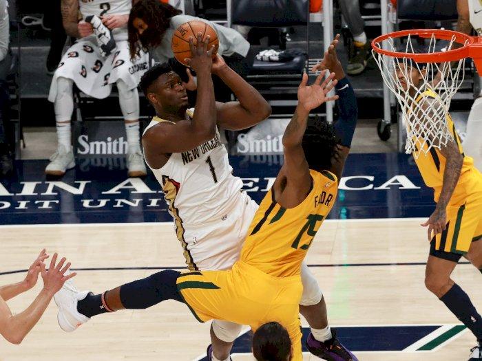 FOTO: Mitchell Mencetak 28 Poin, Jazz vs Pelicans 118-102