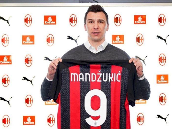 Sah! Mario Mandzukic Berkostum AC Milan, Pakai Nomor Punggung Sakral 9