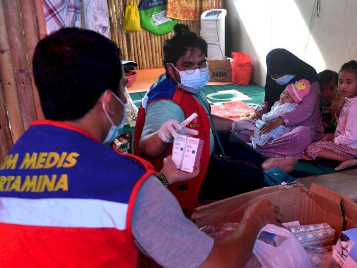 FOTO: Bantuan Medis Pertamina untuk Pengungsi Gempa Sulbar