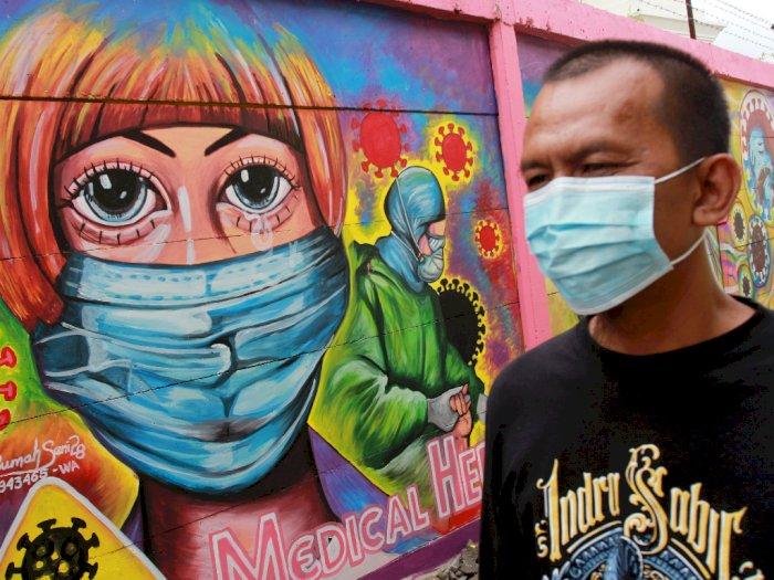 FOTO: Mural Melawan COVID-19 di Tangerang
