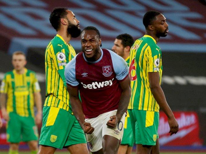 FOTO: Liga Inggris, West Ham United Tumbangkan West Bromwich 2-1