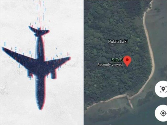 Viral Tanda 'SOS' Google Maps di Pulau Laki, Netizen Harap Ada Keajaiban Korban Selamat   Indozone.id
