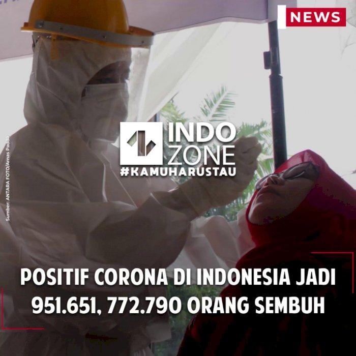 Positif Corona di Indonesia Jadi 951.651, 772.790 Orang Sembuh