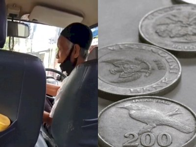 Tega! Sopir Angkot ini Dibayar Cuma Rp 200, Netizen Salfok Logat Ngotot si Penumpang