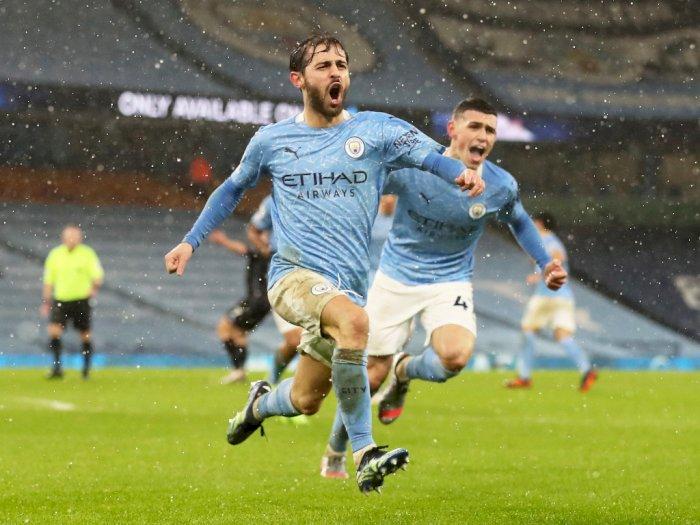 FOTO: Liga Inggris, Manchester City Tekuk Aston Villa 2-0
