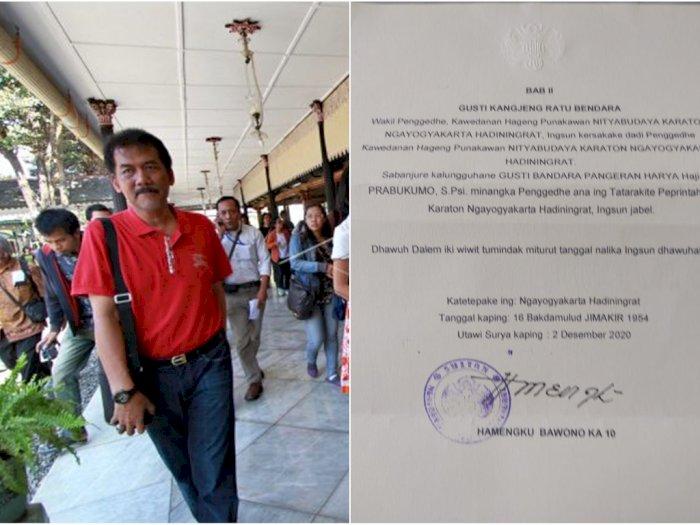 Gonjang-ganjing Internal Keraton Yogyakarta, 2 Adik Sultan Dipecat, Digantikan 2 Putrinya