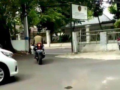 Viral Motor Sport Dibawa Kabur Pria Berpakaian Loreng, Begini Kronologinya