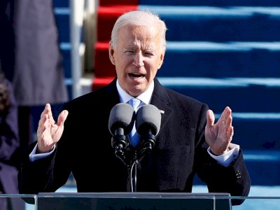 Pelantikan Presiden AS Joe Biden Di Tengah Pandemi Sepi Dari Keremunan Warga
