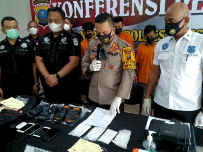 Terungkap Jaringan Narkoba Aceh-Sulteng, 4 Tersangka Diciduk di Sebuah Hotel di Medan
