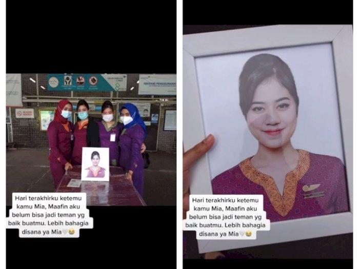 Momen Haru Lepas Jenazah Pramugari Sriwijaya Mia Tresetyani, Sahabat Beri Pesan Menyentuh