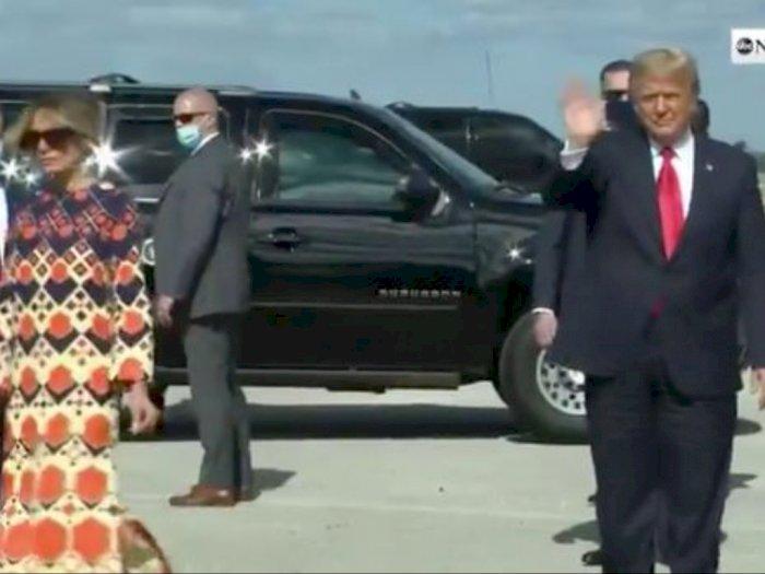 Momen Melani Berjalan Menjauh dari Donald Trump Saat-saat Terakhir Sebagai Ibu Negara