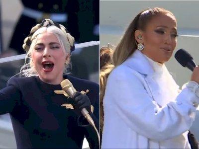 Lady Gaga dan Jennifer Lopez Meriahkan Pelantikan Joe Biden di Gedung Capitol