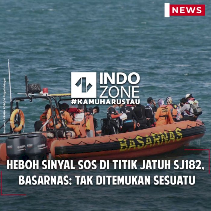 Heboh Sinyal SOS di Titik Jatuh SJ182, Basarnas: Tak Ditemukan Sesuatu