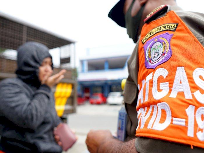 FOTO: Operasi Yustisi Protokol Kesehatan di Gorontalo