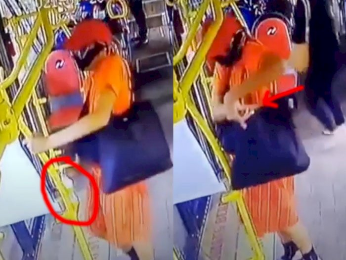 Viral Aksi Pencurian Hand Sanitizer di Bus, Ini Kata PT Transjakarta