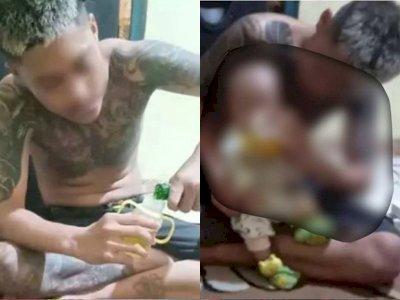 Tega! Cekoki Miras ke Bayi 4 Bulan, 6 Pemuda Berakhir Ditangkap Polisi