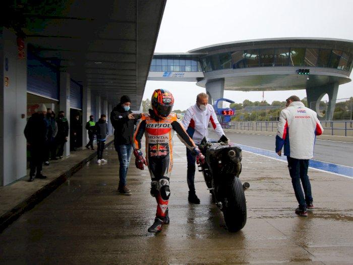 Stefan Bradl Lakukan Uji Privat Honda RC213V 2021 di Sirkuit Jerez