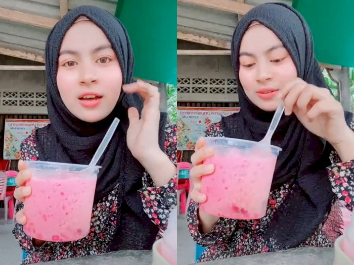 Viral Ukhti Thailand Pamer Minuman, Netizen Malah Salfok sama Logat Melayunya
