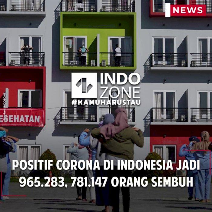 Positif Corona di Indonesia Jadi 965.283, 781.147 Orang Sembuh