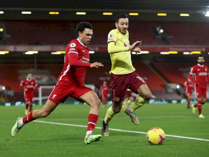 Liverpool 0-1 Burnley: Tergelincir di Anfield, The Reds Tertahan di Posisi 4 Klasemen