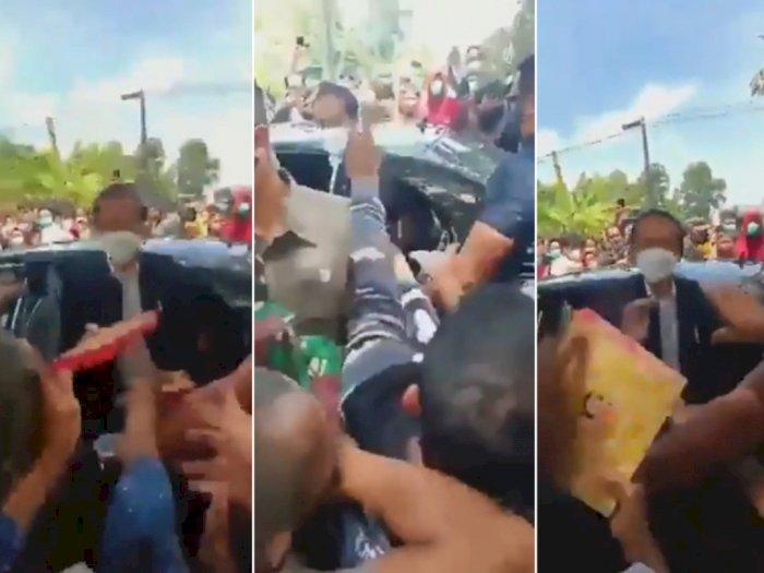 Viral Video Jokowi Bagikan Nasi Kotak Ciptakan Kerumunan, Mardani: Contoh Langgar Prokes