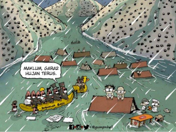 Kocak! Viral Meme 'Banjir Akibat Hujan' Padahal Pohon Habis Ditebang, Menyindir Siapa?