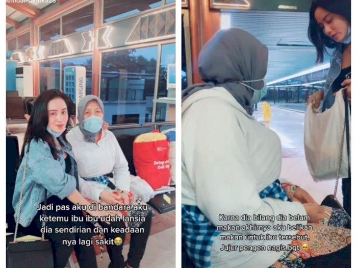 Cerita Cewek Cantik Bertemu Ibu Lansia Seorang Diri di Bandara, Sakit dan Butuh Makan