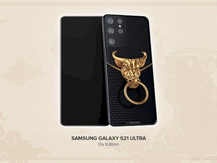 Caviar Rayakan Imlek 2021 dengan Hadirkan Kepala Lembu Emas di Galaxy S21 Ultra!