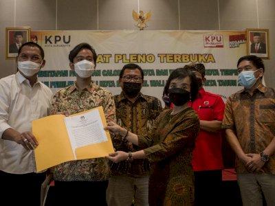 Gibran Rakabuming Resmi Ditetapkan KPU sebagai Wali Kota Solo Terpilih