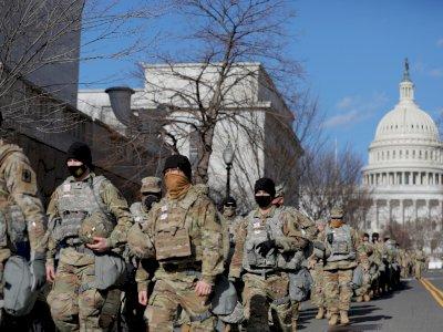 Ratusan Anggota Garda Nasional Jaga Pelantikan Biden Terinfeksi Covid-19