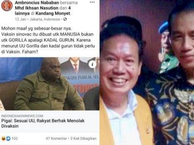 Ambroncius Nababan Rasis Terhadap Natalius Pigai, Roy Suryo Angkat Bicara, Singgung Jokowi