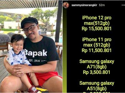 Akun Instagram Sammy Simorangkir Dihack, Malah Jadi Tukang Jual Hp