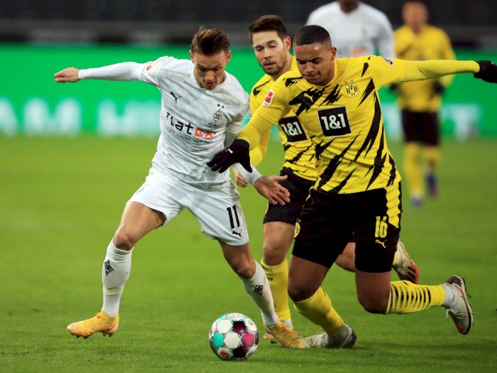 Kalahkan Dortmund, Gladbach Tembus 4 Besar Klasemen Bundesliga