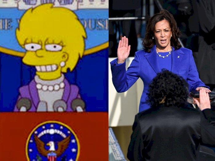 Kartun 'The Simpsons' Bikin Heboh Lagi, Disebut Ramalkan Kamala Harris Jadi Wapres AS