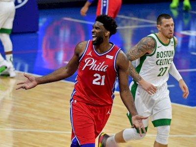 FOTO: Embiid Kembali Mendominasi, 76ers 122-110 Celtics