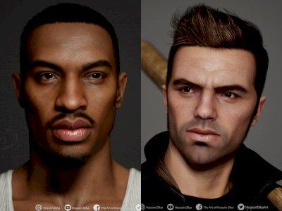 Begini Tampilan Karakter Grand Theft Auto Jika Hadir dengan Detail Fantastis!