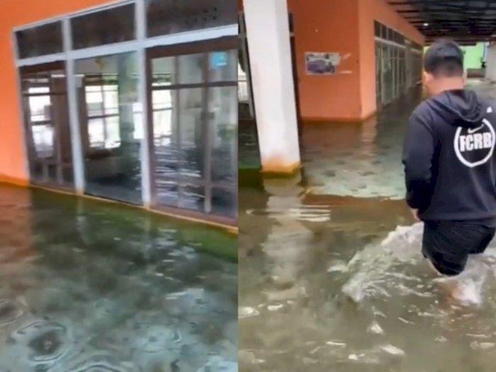 Viral Banjir di Masjid Kalsel Airnya Bening, Netizen Malah Pengen Berenang