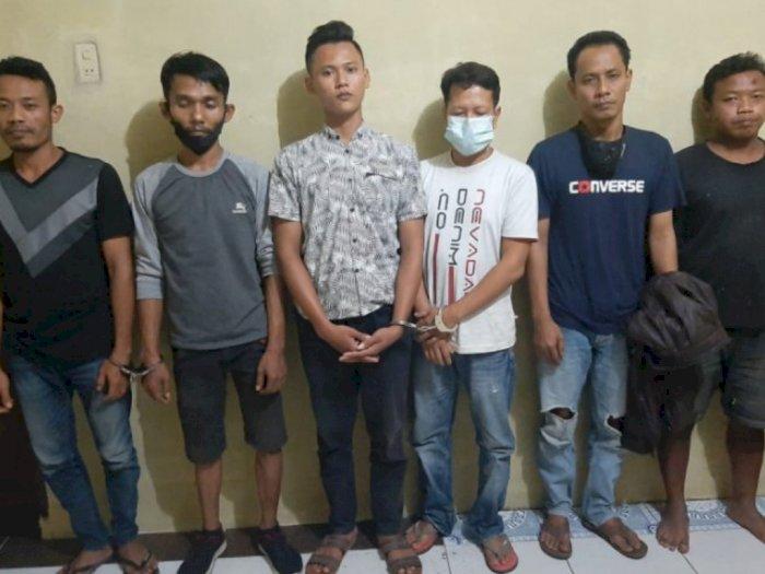 Lagi Asik Isap Sabu, Petugas Polsek Binjai Timur Amankan Enam Orang di Kamar Tidur