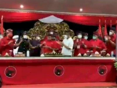Viral Suap-Suapan Tumpeng Pakai Satu Sendok di Acara PDIP Bali, Ini Reaksi Satgas Covid-19