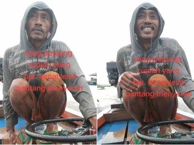 Viral Video Nelayan Terabas Hujan Sampai Menggigil Kedinginan, Bikin Mewek Netizen