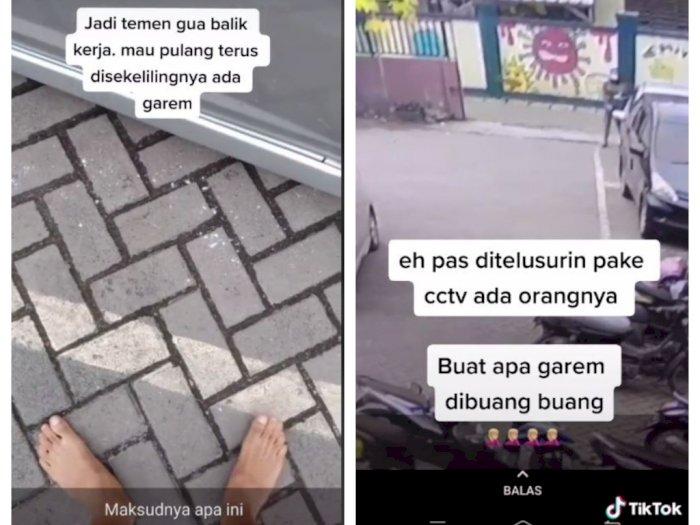 Pria Ini Kaget Mobilnya Dikelilingi Garam, Netizen Heboh Soal Jampe-Jampe hingga Pelet
