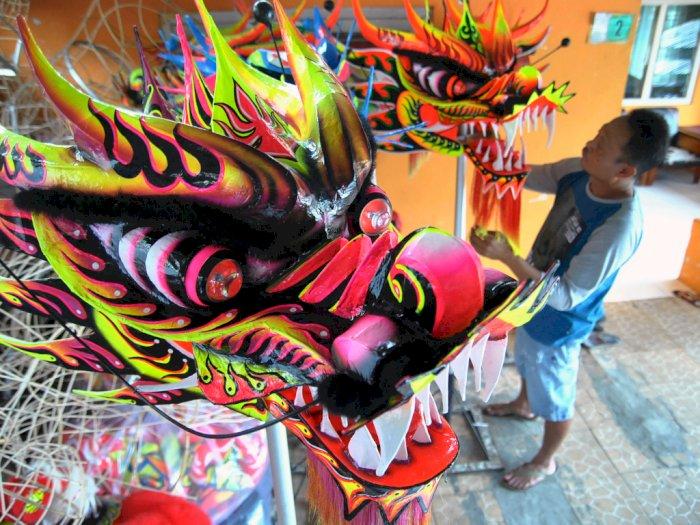 FOTO: Produksi Barongsai dan Liong di Bogor