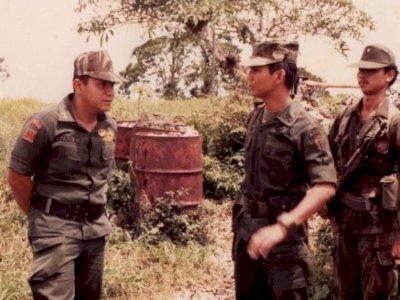 Foto Lawas Prabowo saat Menjadi Bawahan Hendropriyono Ketika Bertugas di Timor-timur