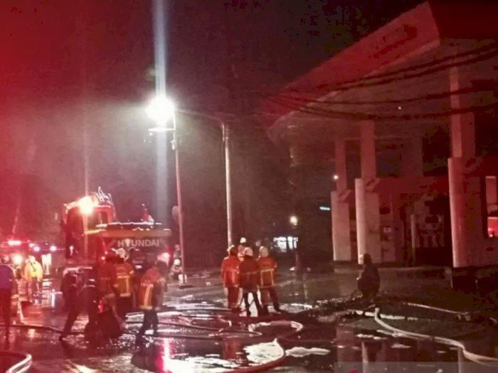 SPBU Margomulyo Surabaya Terbakar, Terjadi Lima Kali Ledakan