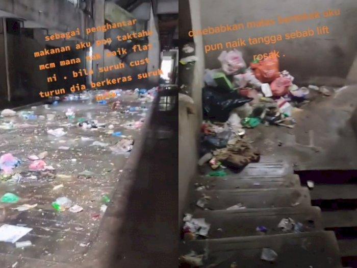 Viral Video Penghuni Rusun Buang Sampah Sembarangan, Bukti Sifat Malas yang Dipelihara