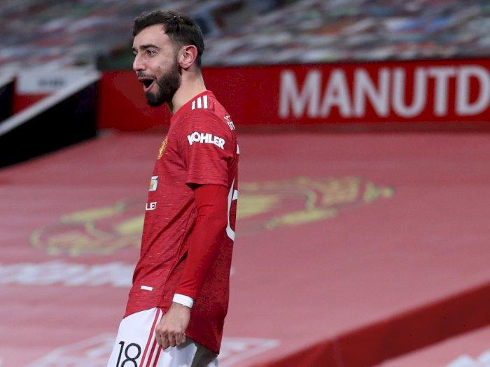 Bukan Penalti, Gol Free Kick Bruno Fernandes Antar MU Singkirkan Liverpool dari Piala FA